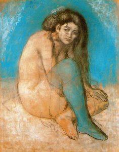 1903 Nu_aux_jambes_croisées_-_Pablo_Picasso_-_1903