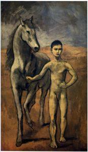 1905-6 Boy Leading a Horse