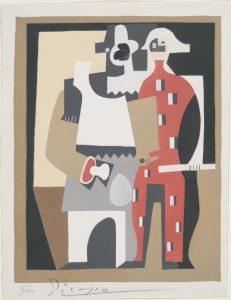 1920 pochoir, Pierrot et arlequin OPP420 258KB