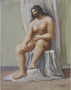 1922 Femme nue, assise contre une draperie yopp22-196.jpg