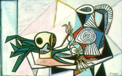 1945 still life with skull, leeks and pitcher 400w.jpg