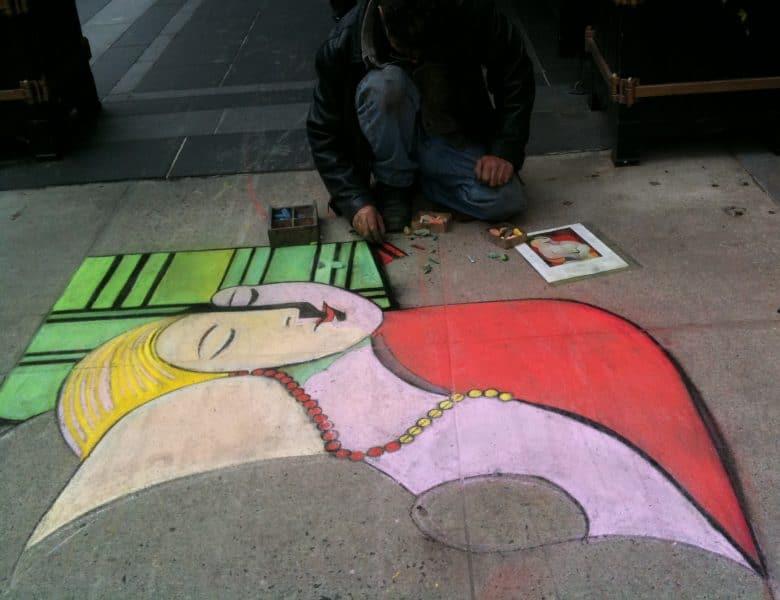 La Rêve, NY sidewalk, 4-28-10