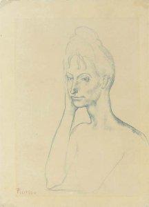1903 - Jeune Fille Accoudée