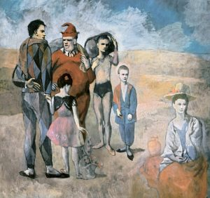 Family of Acrobats oil on canvas, 1905