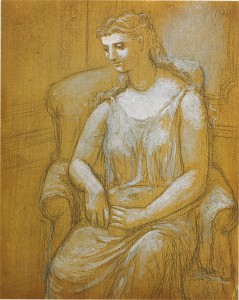 Woman Seated on an Armchair