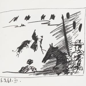 A Los Toros avec Picasso (2 lithographs)