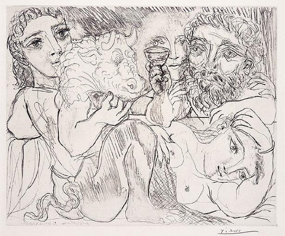 Minotaure, Buveur, et Femmes