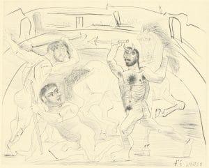 Fig. 23. Le Combat dans L'Arene (Bloch 301)