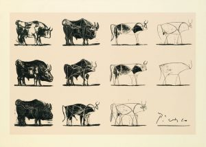 The Bull, lithograph (scraper and penon stone), 11 states, 1946