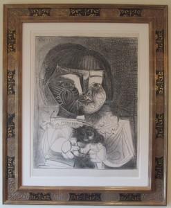 B727, framed