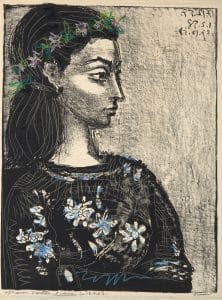 Fig. 37. Femme au Corsage a Fleurs(hand-colored, Bloch 847)