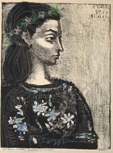 Fig. 37. Femme au Corsage a Fleurs(hand-colored, Bloch 847)