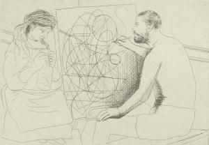 Figure 10. Peintre et Modèle Tricotant (Bloch 85)