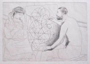 Peintre et Modèle Tricotant, from Le Chef D'Oeuvre Inconnu