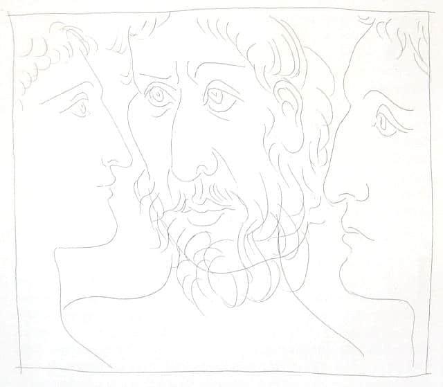 Trois Têtes d'Hommes