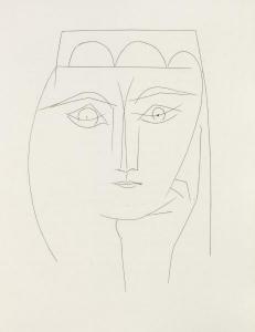 Carmen, Plate XXVIII [Femme Accoudée]