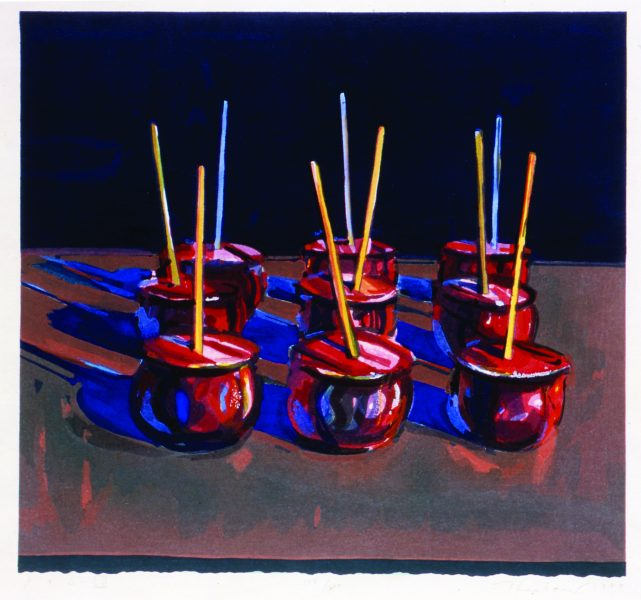 Wayne Thiebaud (American, b. 1920):<br>Candy Apples