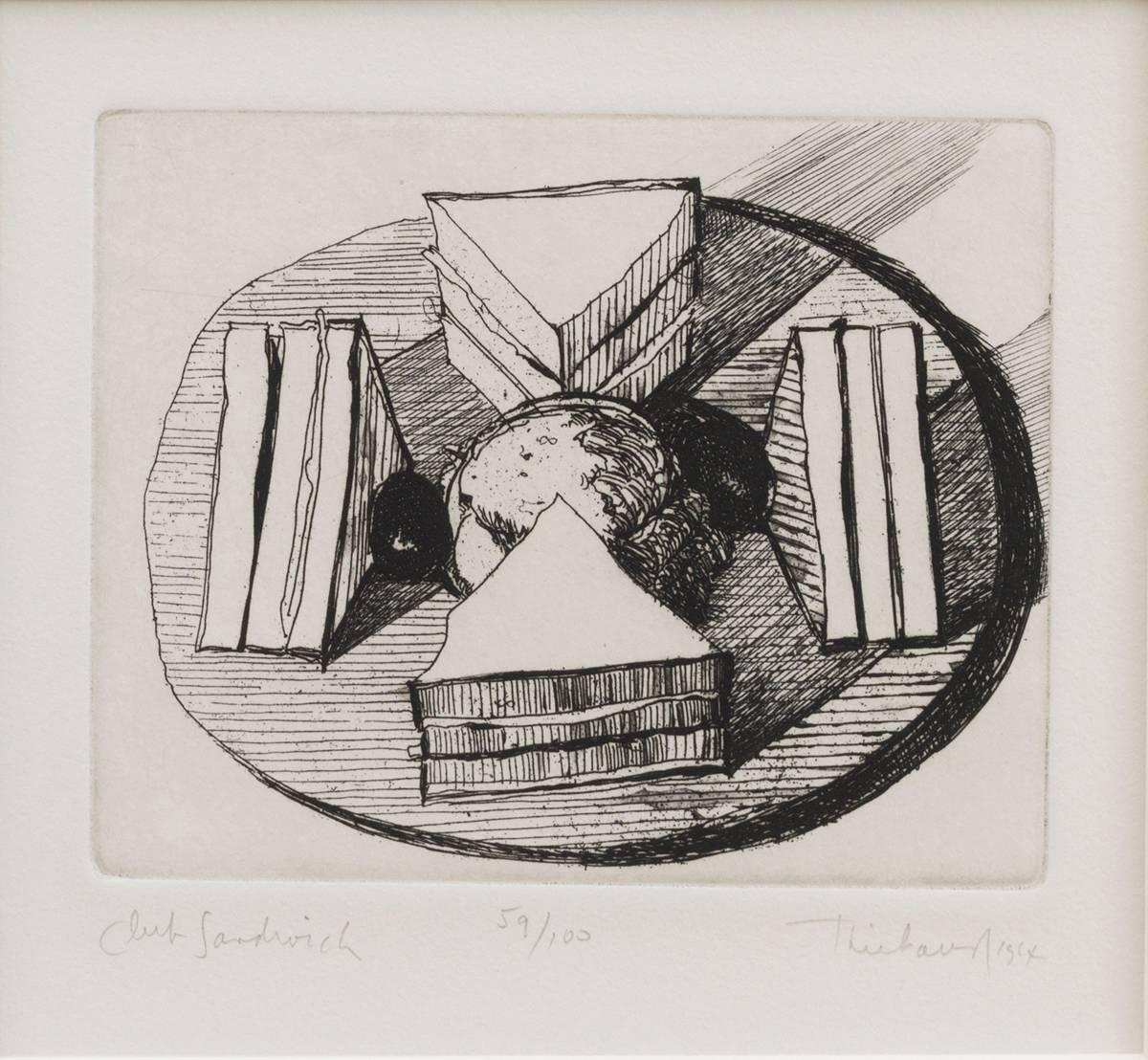 WAYNE THIEBAUD (AMERICAN, B. 1920):<BR>Club Sandwich