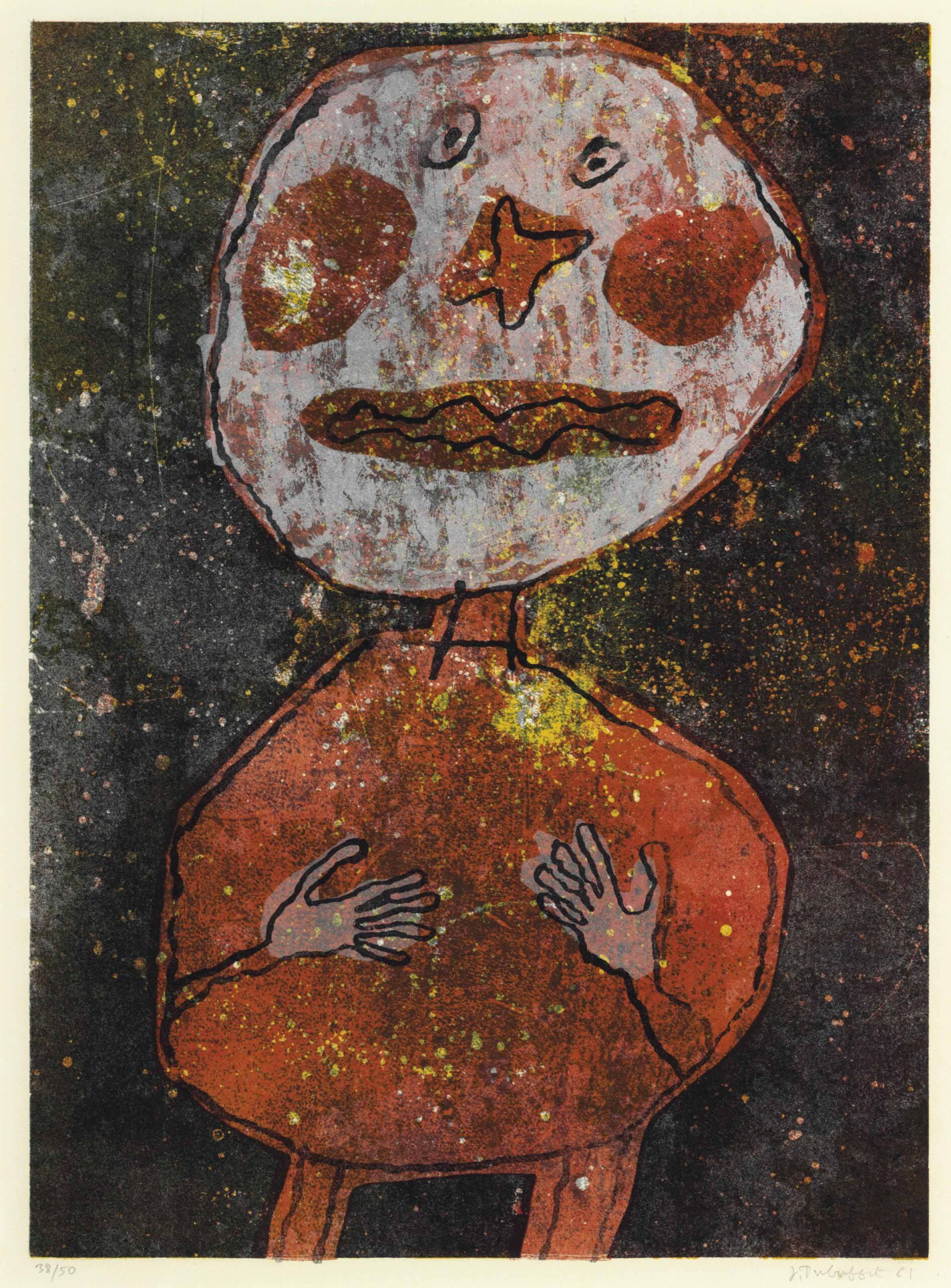 Jean Dubuffet (1901-1985):<br>Personnage au costume rouge