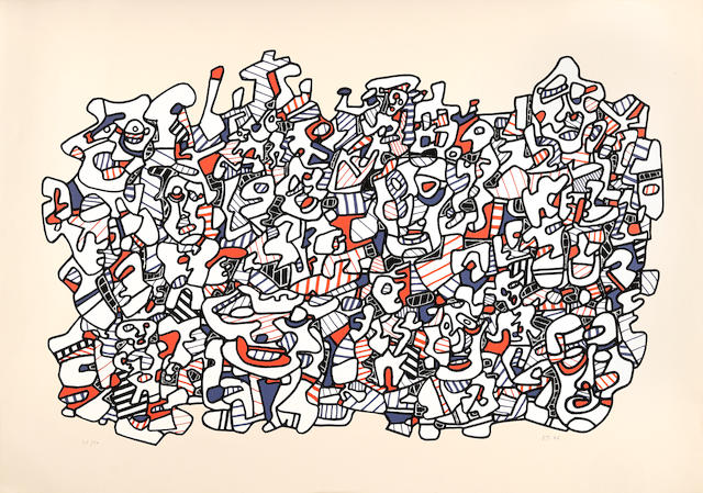 Jean Dubuffet (1901-1985):<br>Site Populeux (A Crowded Place)