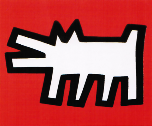 Keith Haring (American, 1958–1990):<br>Barking Dog (from Icons series)