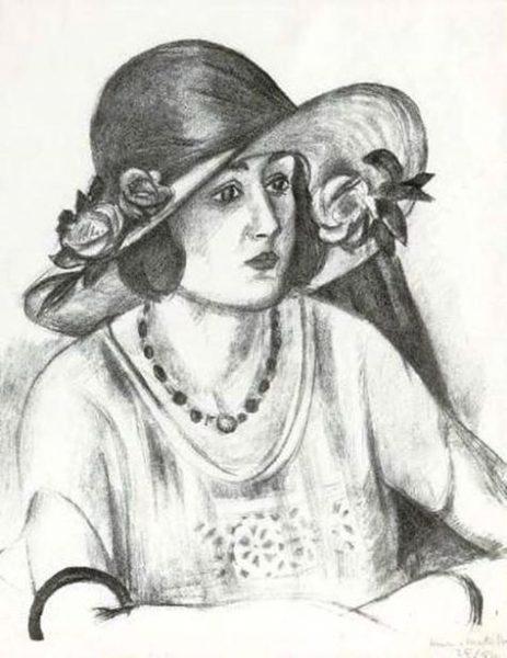 Henri Matisse (1869-1954):<br>La capeline de paille d'Italie