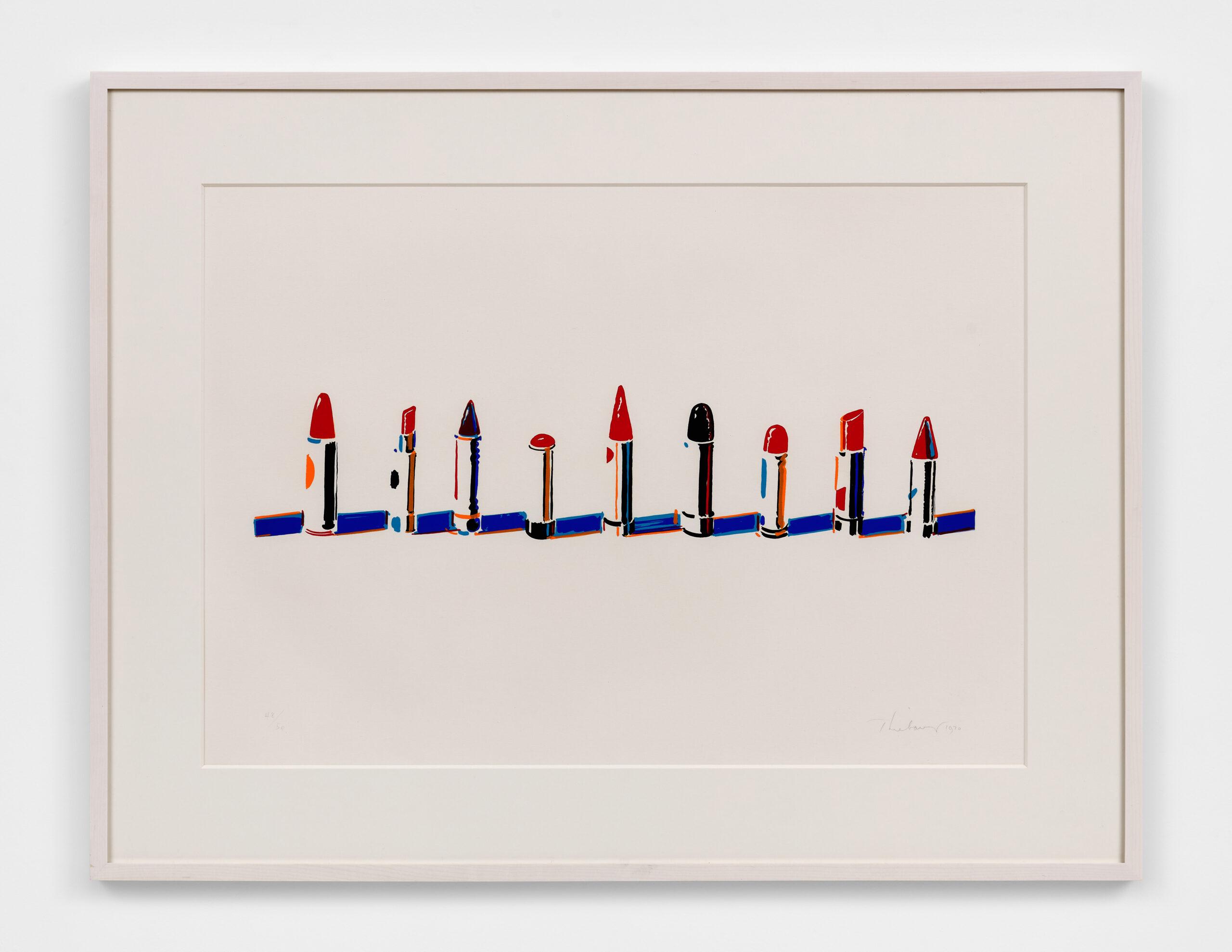 Wayne Thiebaud (American, b. 1920):<br>Lipstick Row