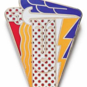 Roy Lichtenstein (1923 - 1997): Modern Head Brooch