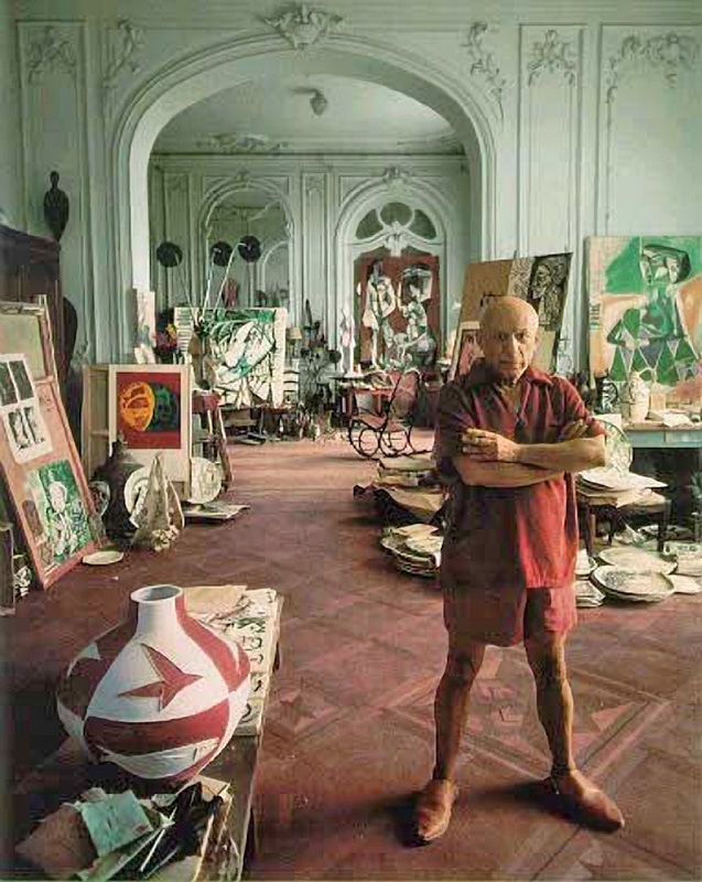 Picasso in a cluttered La Californie