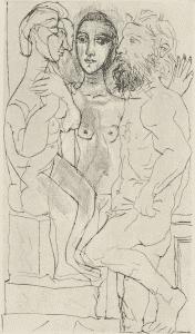 Figure 13. Sculpteur, Modèle, et Sculpture Assise (Bloch 146)