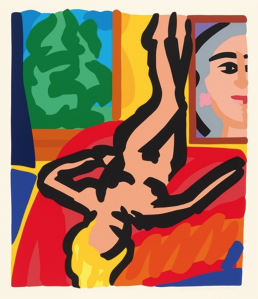 Tom Wesselmann (American, 1931–2004):<br>Nude with Picasso