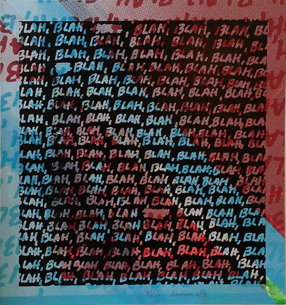 Mel Bochner (American, b. 1940):<br>BLAH BLAH BLAH + Background Noise #27 (double sided)